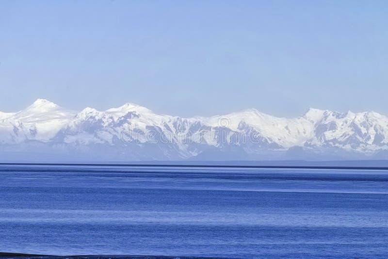 Anchorage inlet. Bering sea Anchorage Alaska tidal flats royalty free stock photography