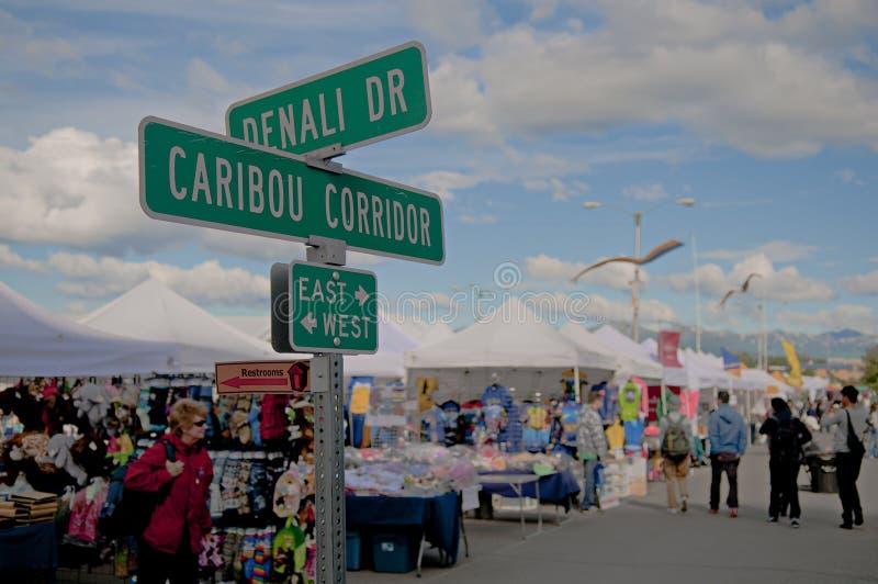 Anchorage market stock photo