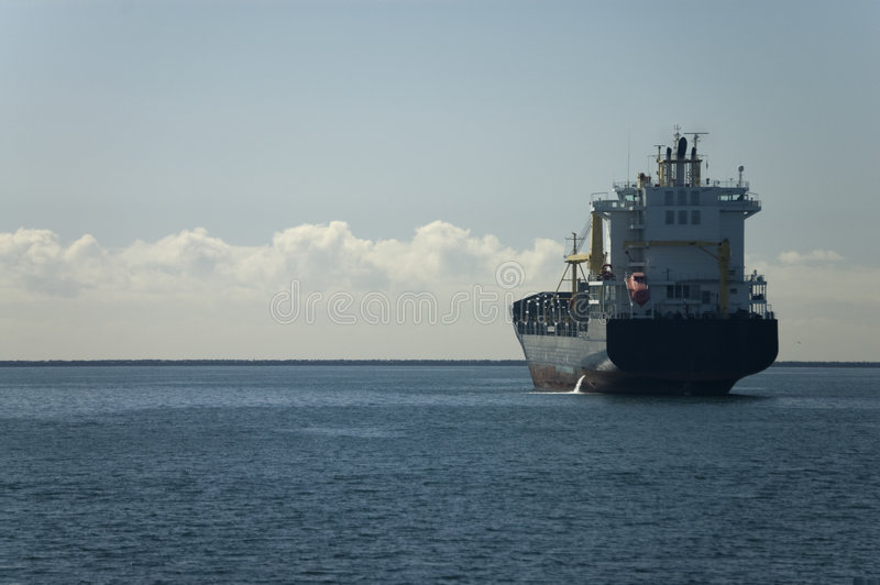 Anchored in Port stock photography