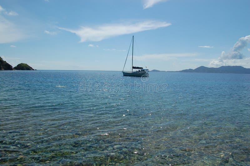 Download Anchored sailboat stock photo. Image of sailboat, blue - 1731552