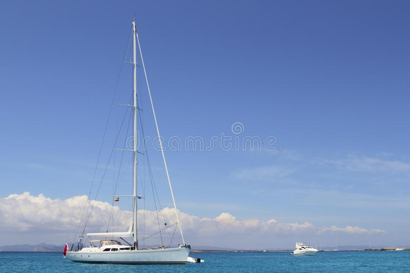 Download Anchored Sailboat Formentera Turquoise Illetes Stock Photo - Image: 15247306