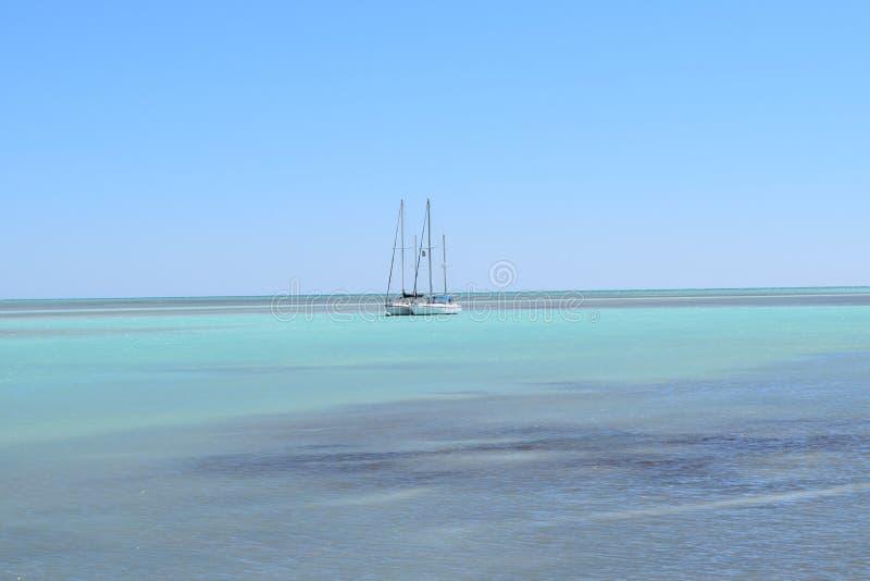 Anchored Sailboats royalty free stock photos