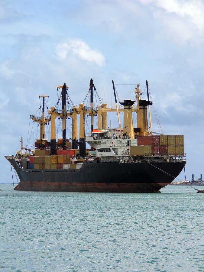 Anchored Ship stock photo
