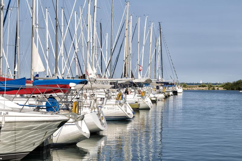 The Anchored Yachts royalty free stock images
