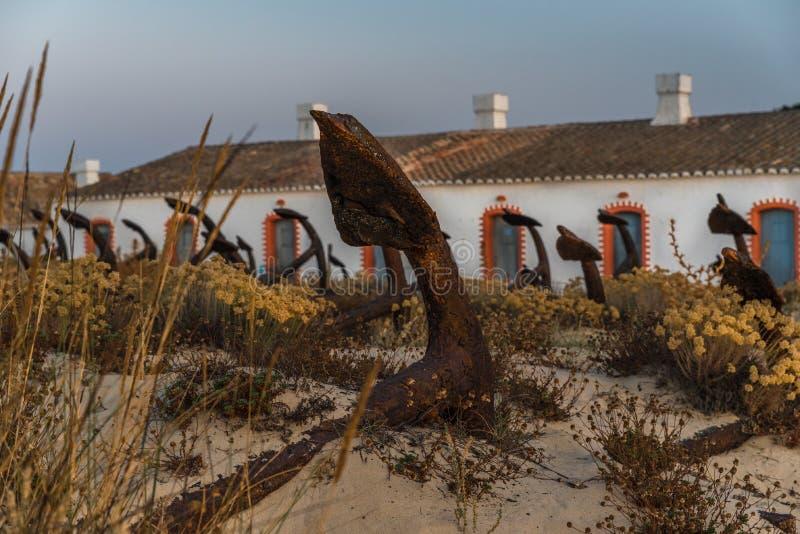 Barril Beach Algarve Portugal stock photo