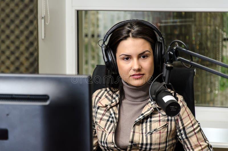 anchorwoman royaltyfri foto