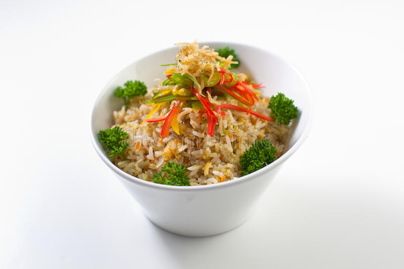 Anchovy Fried Rice royalty free stock images