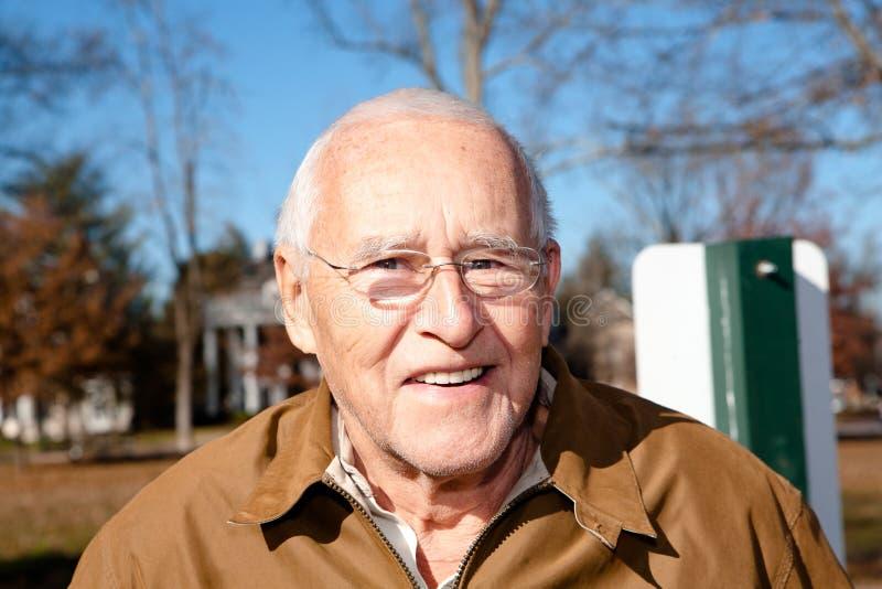 Ancião de sorriso fotografia de stock