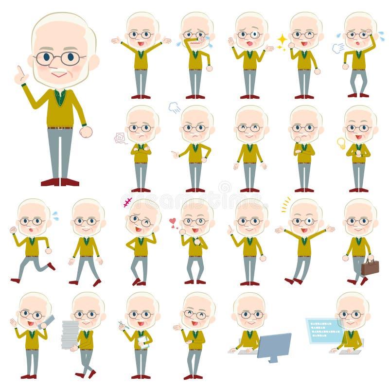Ancião White_1 da malha do ocre amarelo ilustração royalty free