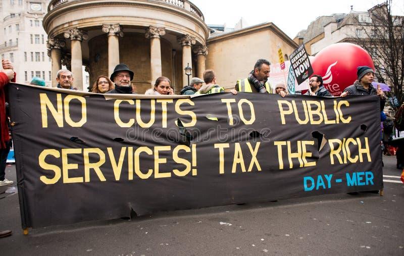 Anci rządowi protestujący przy Brytania Są Łamanego, wybór powszechny demonstracją w Londyn/Teraz fotografia royalty free