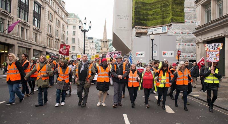Anci rządowi protestujący przy Brytania Są Łamanego, wybór powszechny demonstracją w Londyn/Teraz zdjęcie stock