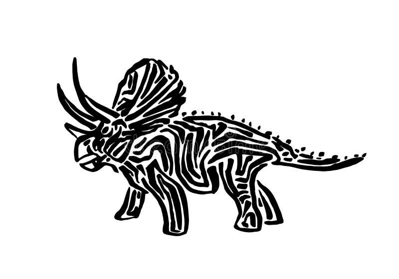 tipo ejemplo del dinosaurio del triceratops del vector