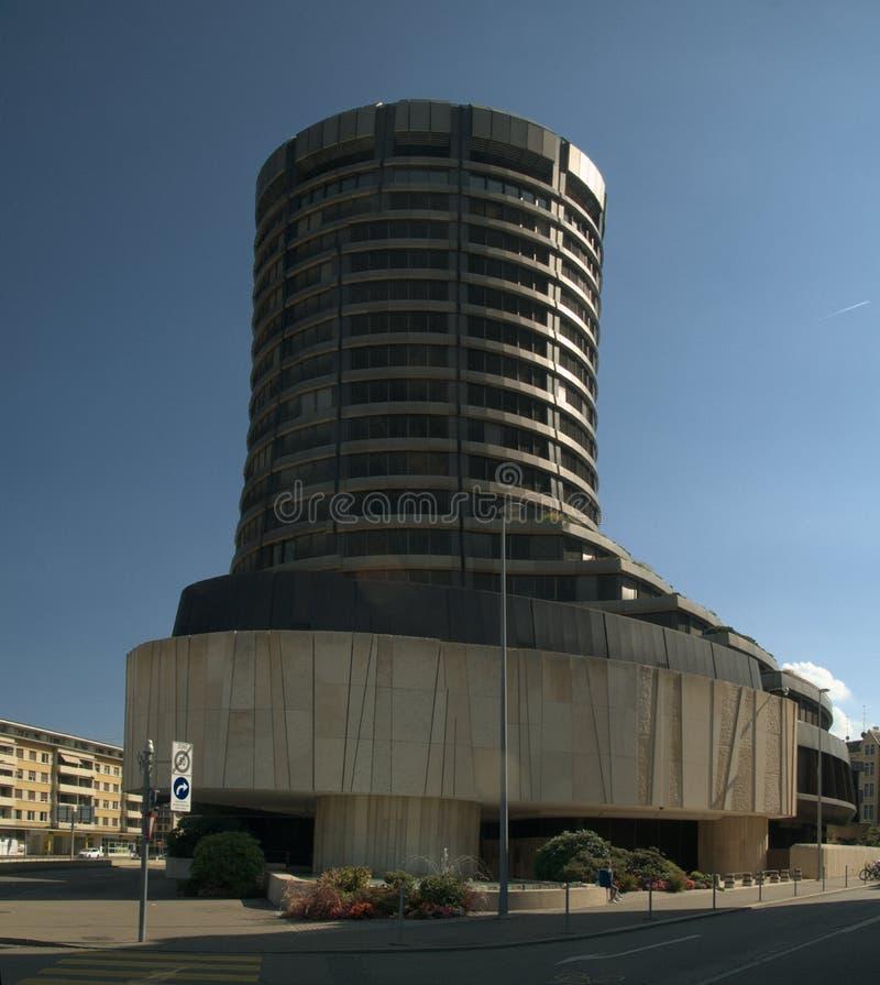 Ancien bâtiment BIZ par gare principale, Bâle photo libre de droits