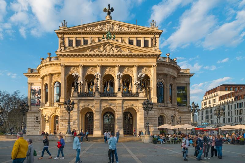 Ancien bâtiment d'opéra, opération d'Alte, Francfort sur Main photos stock