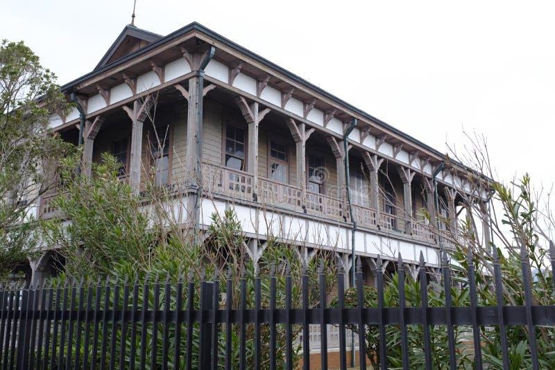 Ancien bâtiment principal de branche de Karatsu de société par action de Mitsubishi photographie stock