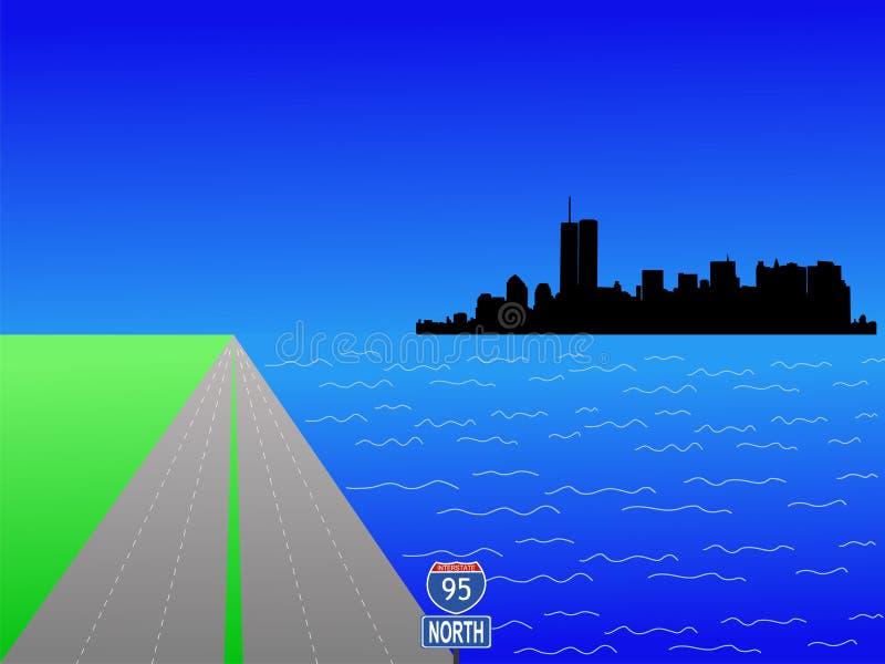 Ancien horizon de Lower Manhattan illustration libre de droits