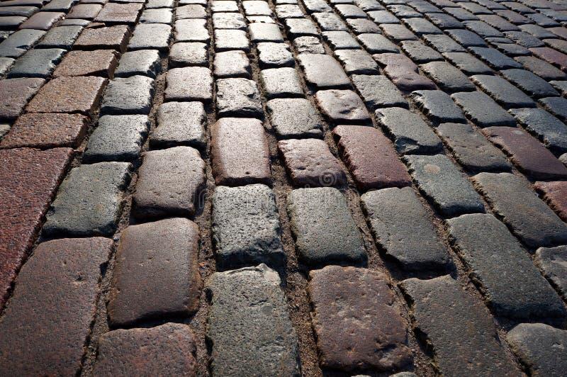 Ancien pavage traditionnel en pierre images libres de droits