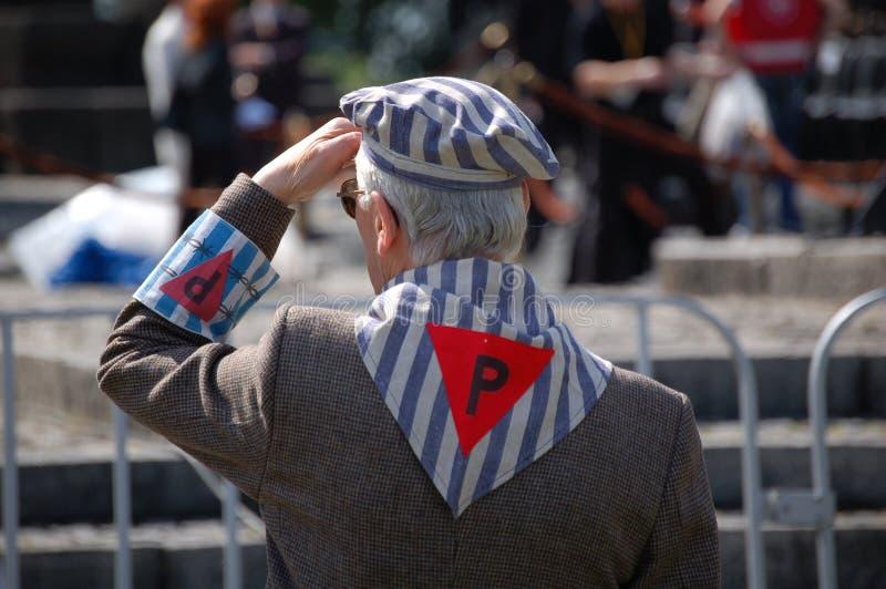 Ancien prisonnier d'un camp nazi image libre de droits