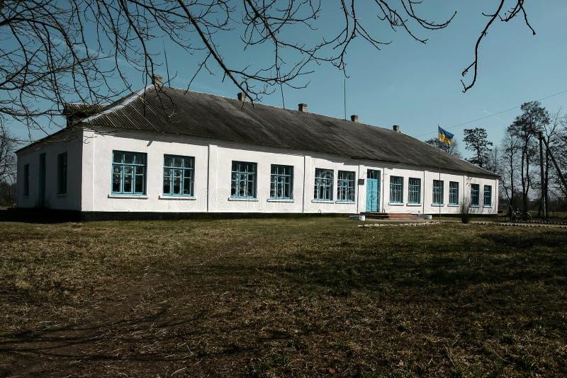 Ancienne école blanche rurale images libres de droits