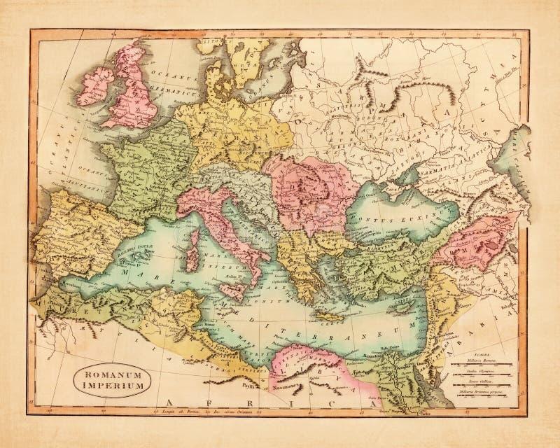 Ancienne carte originale photographie stock libre de droits
