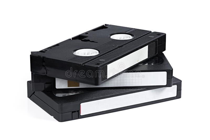 Ancienne cassette vidéo isolée sur fond blanc photo stock