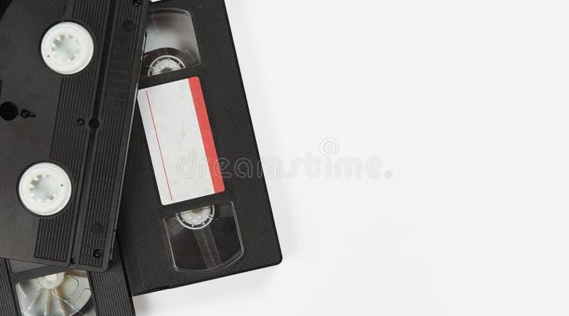 Ancienne cassette vidéo isolée sur fond blanc images libres de droits