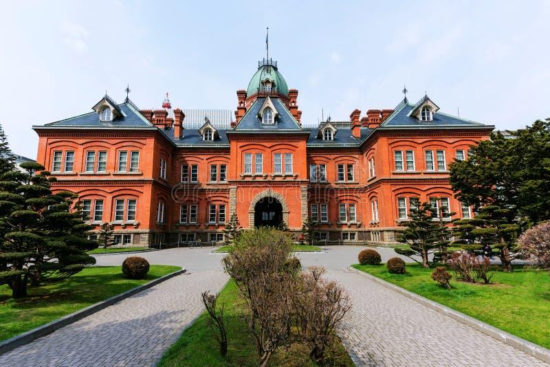 Ancienne construction de bureau du gouvernement du Hokkaido photo libre de droits