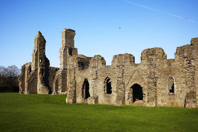 Ancient abbey ruins royalty free stock image
