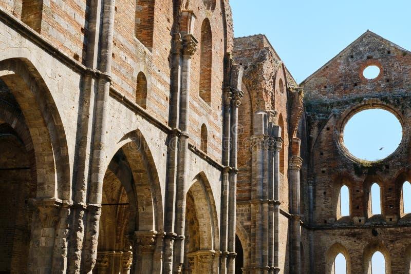 San Galgano abbey Italy stock photography