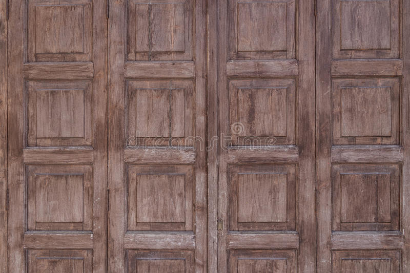 Ancient aged wooden door texture as background royalty free stock photo