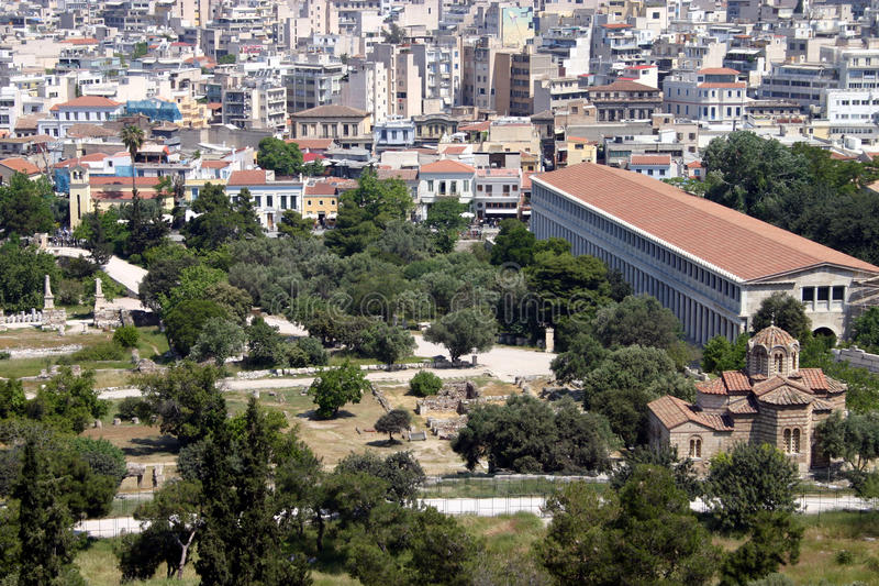 Download The Ancient Agora stock photo. Image of city, agora, greece - 18119664