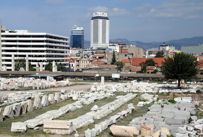 Ancient Agora in Izmir stock image