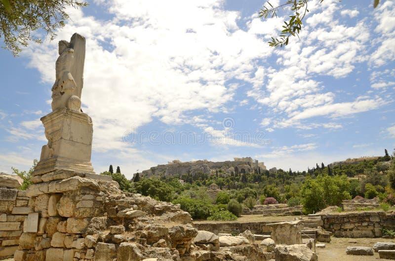 Download Ancient Agora Tritons stock image. Image of columns, tritons - 33345045
