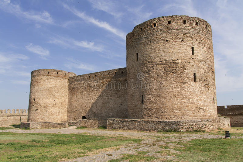 Ancient Akkerman fortress at Belgorod-Dnestrovsky, near Odessa, Ukraine. Citadel old fortress photo. Ancient Akkerman fortress at Belgorod-Dnestrovsky, near royalty free stock photography