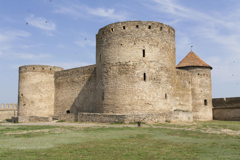 Ancient Akkerman fortress at Belgorod-Dnestrovsky, near Odessa, Ukraine. Citadel old fortress. The South of Ukraine photo.  stock images