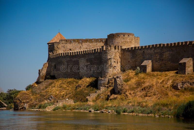 Ancient Akkerman fortress at Belgorod-Dnestrovsky, near Odessa, Ukraine. Panorama of ancient Akkerman fortress at Belgorod-Dnestrovsky, near Odessa, Ukraine stock images
