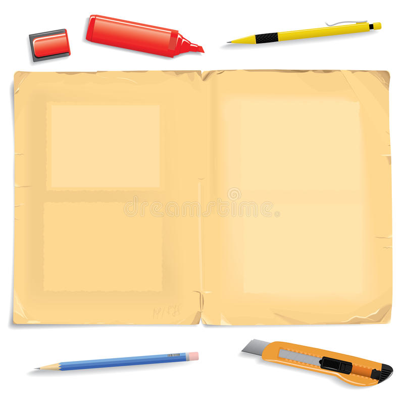 Ancient Album Sheet And Stationery Stock Photography