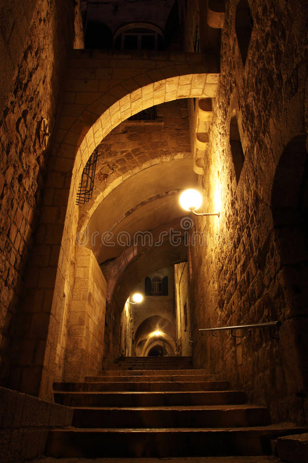 Download Ancient Alley In Jewish Quarter, Jerusale Stock Photo - Image: 14472610