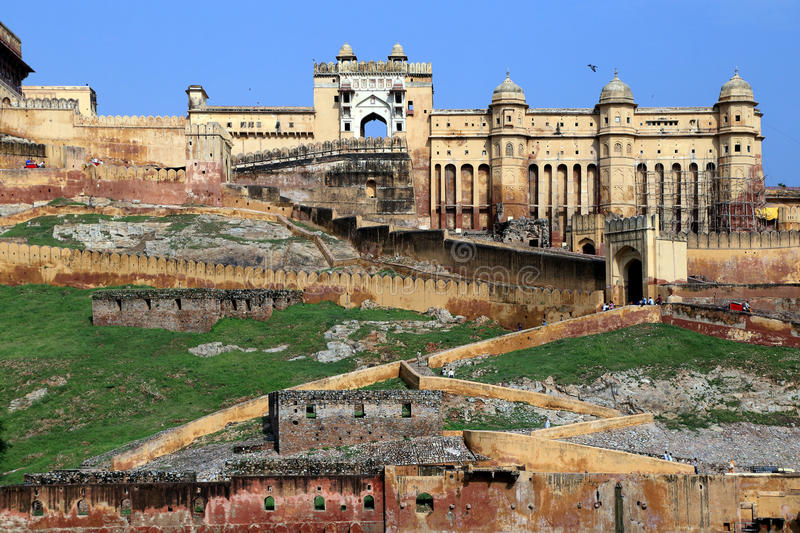 Ancient Amer Fort (Amber Fort), Jaipur, Rajasthan state, India. royalty free stock images