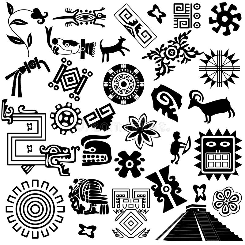 Free Ancient American Design Elements Royalty Free Stock Image - 25257116