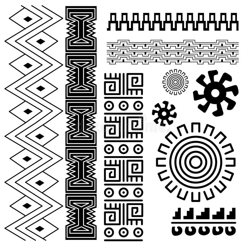 Ancient american pattern stock illustration