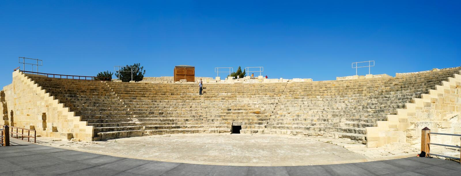 Download Ancient Amphitheater stock image. Image of cyprus, history - 13235435