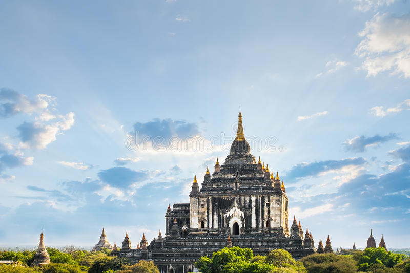 Ancient Ananda Temple at Bagan. Myanmar (Burma), royalty free stock images
