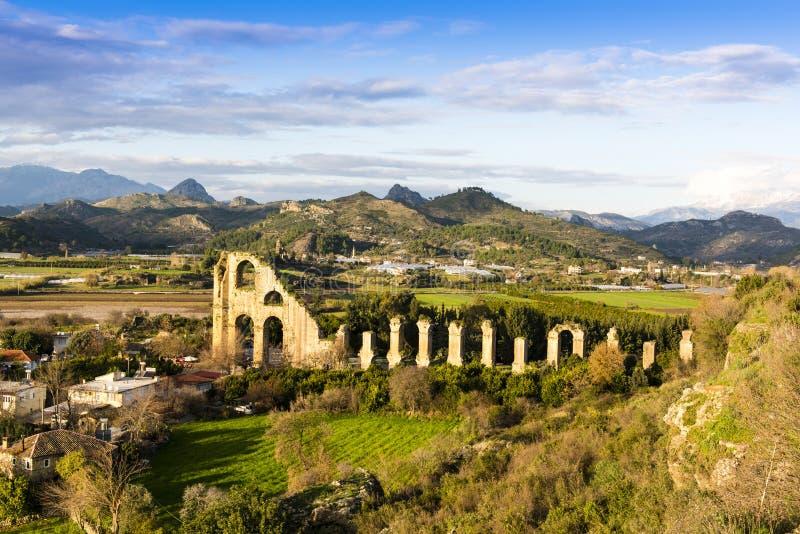 Ancient Aqueduct, Turkey stock photo