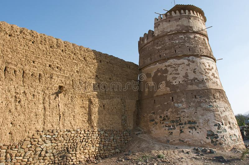 Ancient arabic tower and wall