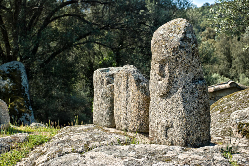 Ancient archeological site of Filitosa, Corsica (France) royalty free stock image
