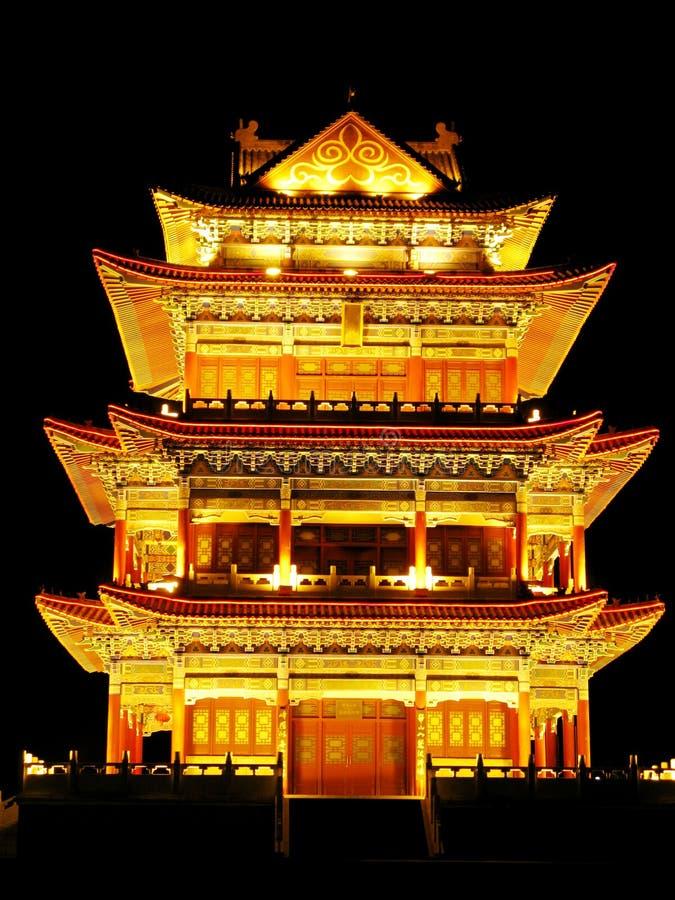 ancient architecture lights night στοκ εικόνες με δικαίωμα ελεύθερης χρήσης