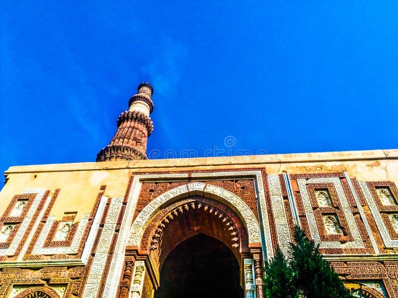 Qutab minar stock image