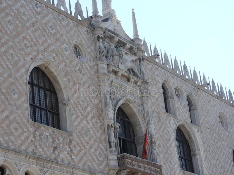 Ancient architecture of stone walls of Venice, Italy royalty free stock photo