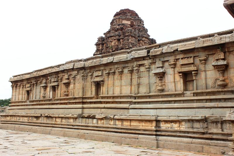 Hampi vittala temple. Ancient architecture at vittala temple hampi royalty free stock photography